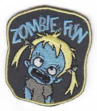 """ZOMBIE FUN"" IRON ON PATCH - ZOMBIES - SCARY - FUN - DANCE - HALLOWEEN - PARTY"