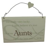 Best Aunt Plaque - Great gift for a Special Aunt Birthday / Christmas present