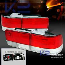For 1992-1993 Honda Accord 4Dr Tail Lights Red/Clear Depo
