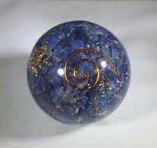 MEDIUM (40-50mm) BLUE AVENTURINE ORGONE GEMSTONE SPHERE ORGONITE SPHERE
