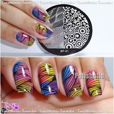 BORN PRETTY Nail Art Stamp Template 4 Mixed Designs Image Stamping Plate 21
