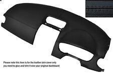 BLACK STITCH DASH DASHBOARD LEATHER SKIN COVER FITS MITSUBISHI COLT 2004-2008