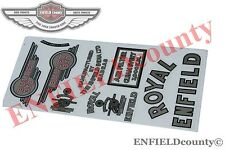 STICKER EMBLEM SET COMPLETE ROYAL ENFIELD BULLET 350cc MOTORCYCLES @AUD