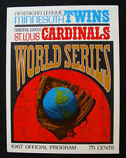1967 MINNESOTA TWINS VS. ST. LOUIS CARDINALS PHANTOM WORLD SERIES PROGRAM COVER