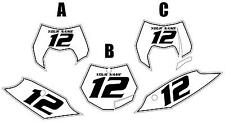 2011-2012 KTM 350SX-F Custom Pre-Printed White Backgrounds Black Pinstripe