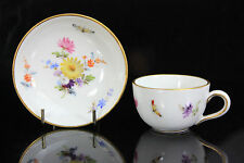 ANTIQUE MINIATURE MEISSEN CUP & SAUCER C.1900