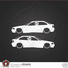 (972) 2x low and Slow BMW E36 Compact Sticker Aufkleber OEM M3 Motorsport  Turbo