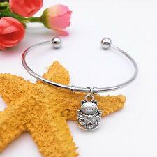 New Fashion Wild Cute Lucky Cat Fu Antique Silver Pendant Bracelet