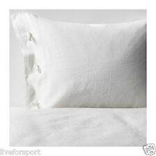 Ikea Linblomma King Duvet Cover Pillowcase Off White Bedding 100% Linen Bed Set
