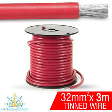 3m X 32mm RED 188AMP MARINE ANCHOR WINCH JUMPER BATTERY TINNED COPPER WIRE