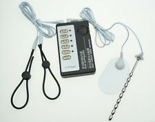 ESTIM E-STIM TENS UNIT WITH 2 ADJUSTABLE RINGS & OTHER ACC CONDUCTIVE UK SELLER