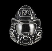 Stainless Steel FireFighter FD biker Ring Custom size handmade dalmation R-206SS