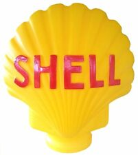 SHELL BOWSER PUMP GLOBE LARGE YELLOW REPO LIGHT FUEL PETROL PUMP COLLECTORS NEW