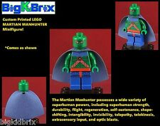 MARTIAN MANHUNTER DC Custom Printed LEGO Minifigure with Cape NO DECALS USED!