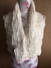 Hand KnittedGridlock Scarf Shawl/Wrap:  Natural Aran, by KnittedNature