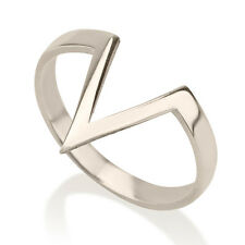 Geometric Triangle Stacking Ring - Handmade Midi Rings Sterling Silver 925 Band
