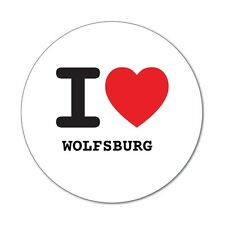 I love WOLFSBURG  - Aufkleber Sticker Decal - 6cm