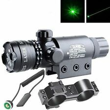 Green laser sight outside adjust For rifle gun scope remote switch 2 mounts #02