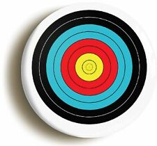 ARCHERY TARGET BADGE BUTTON PIN (Size is 1inch/25mm diameter)
