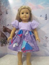 "homemade 18"" american girl/madame alexdisney frozen elsa/anna dress doll clothes"