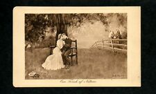 Early 1900s C Clyde Squires Gibson Series Sepia Postcard Artist Signed England