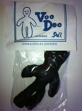 "VOODOO VODOU DOLL APPROX 4"" CLOTH FABRIC BLACK MALE"