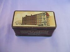 """Old English & Scottish Joint Co-op Tea Tin """"Filling the Nation's Teapot"""" c 1920s"""