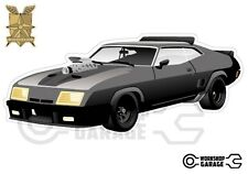 Mad Max Black Interceptor movie car  - XX Large Sticker - Front Side View