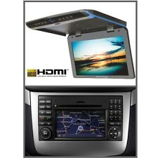 FULL-HD monitor soffitto NTG 2.5 connettore DVD & AMPIRE USB 17 pollici Mercedes-Benz