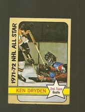 1972 -  73 Topps Hockey Set KEN DRYDEN ALL STAR AS CARD NO. 127