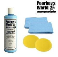 Poorboys Leather Stuff Cleaner & Conditioner Car Seat + 2 Free Cloths & Pads