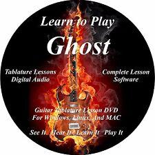 Ghost Guitar TABS Lesson CD 32 Songs + Backing Tracks + BONUS!