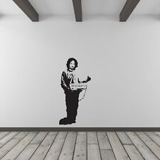 Banksy Hitchhiking Prisoner Vinyl Wall Art Decal for Home Decor / Interior De...