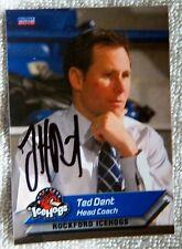 Chicago Blackhawks Ted Dent Signed 11/12 Rockford IceHogs Card Auto