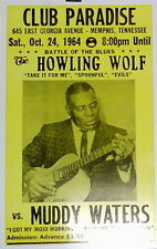 "Howlin' Wolf vs. Muddy Waters Concert Poster - 1964 Battle of the Blues 14""x22"""