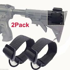 2x Universal Rifle Gun Shotgun Stock Single Point Sling Loop Adapter Strap #2