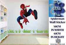 Spiderman Wall Art Sticker Super Hero Childrens bedroom decor large