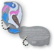 Booby Sea Bird Micro Travel Tag (Travel Bug) For Geocaching