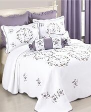 Modern Heirloom Collection Gwen Quilted Bedspread Queen WHITE W005