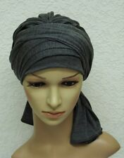 Chemo Turban snood, full turban hat, volume chemo head wear, full head covering