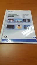 SONY NEX 7  DIGITAL CAMERA  PRINTED INSTRUCTION MANUAL USER GUIDE 211 PAGES A5