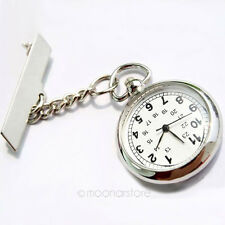 Fashion Nurse Pin Clip Brooch Pendant Hanging Pocket Quartz Fob Watch Fobwatch