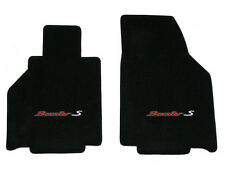 NEW! 2005-2012 Black Front Floor Mats Porsche Boxster S embroidered logo 2 tone