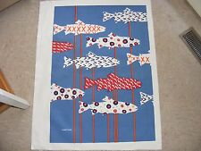 Marushka Unframed Screen Print, Large, Fish, Water, Contemporary, Blue
