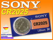 Pila SONY Lítio ★ CR2025 ★ 3 voltios / 1 SONY Lithium Battery CR2025