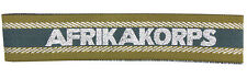 German Army AFRIKA KORPS OFFICERS BEVO CUFF TITLE - Economy Quality - WW2 Repro