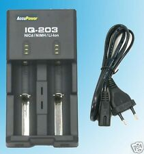 Europlug IQ-203 Lithium NiMH 18560 AA Battery Charger Power Bank Li-ion DC 12V