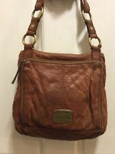 Women's Fossil Leather Crossbody Long Live Vintage Distressed W/ Key & Key Chain