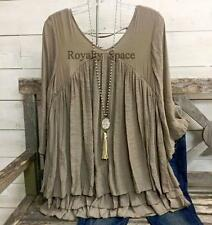 TAUPE LADY- GIRLS BOHO-CASUAL FASHION BLOUSE & TUNIC LOOSE FITTING NEW - 1XL