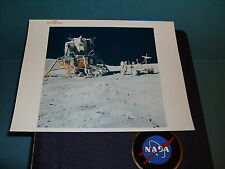 NASA APOLLO 16 LM & LRV VINTAGE PHOTO RED SERIAL #AS16-107-17436 GREAT IMAGE